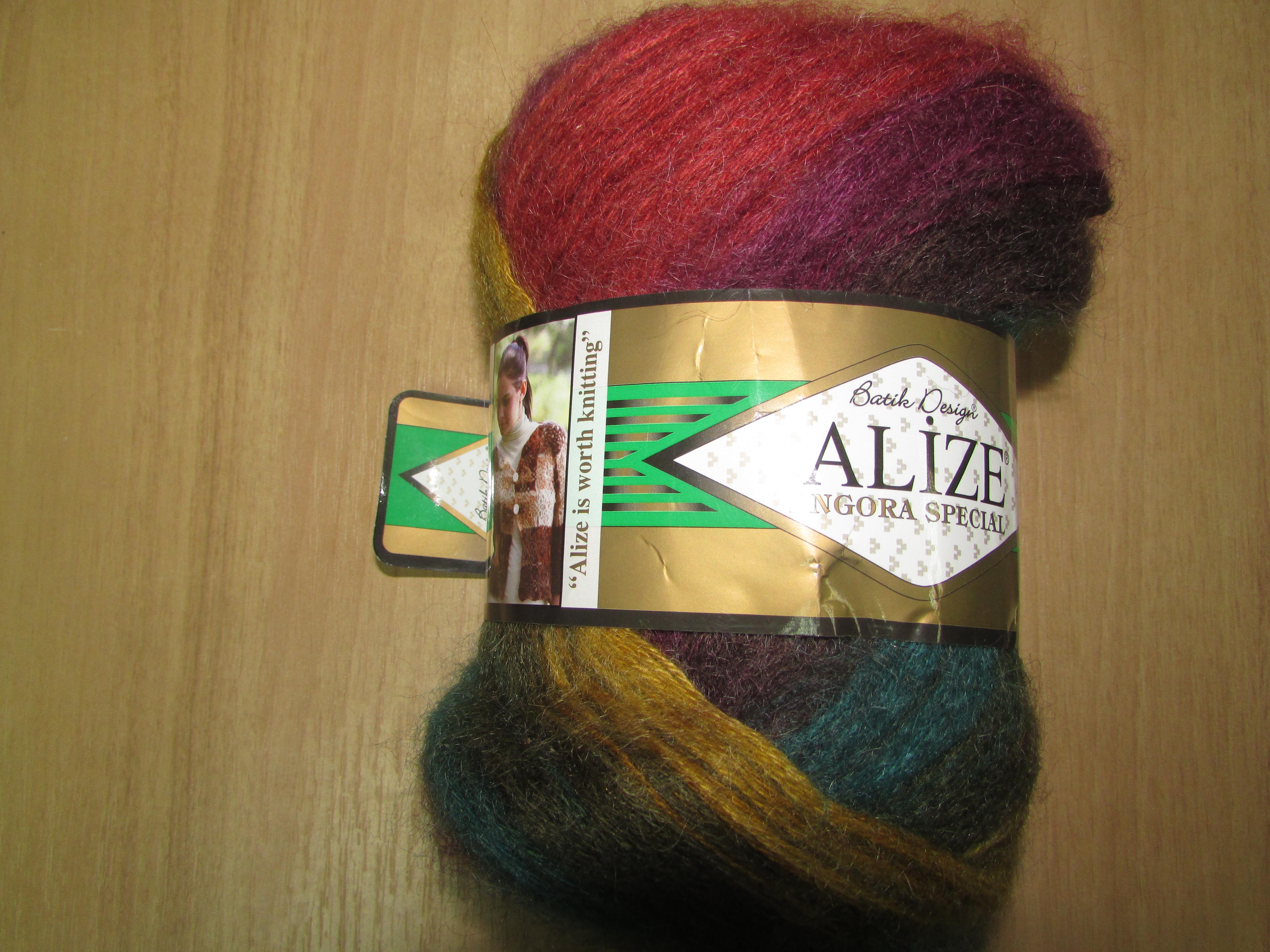Angora Spesial batik  3368  зелено-красно-желтый